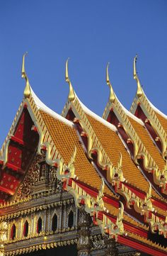 ✮ Wat Benjamabophit (Marble Temple) - Bangkok, Thailand - The top is gold trimmed