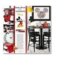 Mickey Mouse Kitchen by leanne-mcclean on Polyvore featuring interior, interiors, interior design, home, home decor, interior decorating, Flash Furniture, Muuto, Disney and Ethan Allen