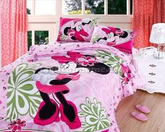 Pink Minnie Mouse Bedding Sets this would be so cute in Hannah's room! Minnie Mouse Room Decor, Minnie Mouse Bedding, Mickey Mouse, Frozen Bedding, Disney Bedding, Girls Bedding Sets, Bedroom Sets, Bedroom Decor, Disney Bedrooms