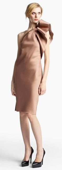 Washed Duchesse Satin Cocktail Dress by Lanvin