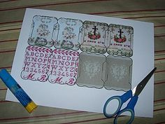make for embroidery floss out of pretty paper