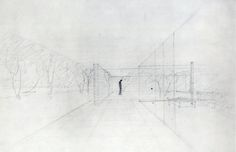 Ludwig Mies van der Rohe | Sketch for the German Pavilion, Barcelona | 1929