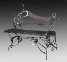 art furniture by Blacksmith Mike Edelman (my new favorite)
