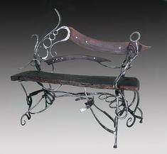 art furniture by Blacksmith Mike Edelman (my new favorite)