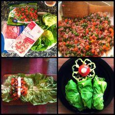 Töltött salátalevél