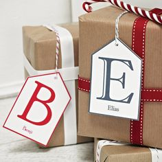 personalised initial gift tag by daisyley | notonthehighstreet.com