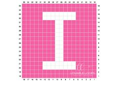 Free graph/chart crochet pattern for the letter I. This crochet graph is one letter square from my Alphabet crochet baby child blanket graphgan. C2c Crochet, Crochet Squares, Filet Crochet, Baby Blanket Crochet, Crochet Baby, Crochet Alphabet, Crochet Letters, Hummingbird Crochet, Crochet Wall Hangings