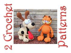 ⇨This is 2 crochet patterns and not the Garfield and/or Odie doll. The patterns are written in English. ♥ The patterns have photos, and written instructions so you can make them with a lot more ease, but you need to have intermediate to advance skills in crochet to make it. ♥
