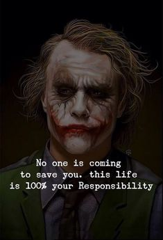Joker pics with quotes Joker Love Quotes, Joker Qoutes, Heath Ledger Joker Quotes, Badass Quotes, Good Life Quotes, Wise Quotes, Mood Quotes, Positive Quotes, Inspirational Quotes
