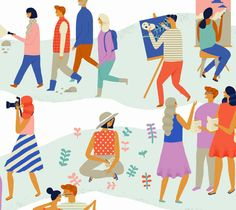 Illustrations commissioned by Facebook for their event cover images