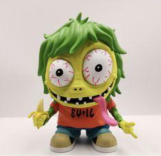 """MCA Evil Ape Fink """"OG"""" Edition 4"""" vinyl figure by UVD Toys Vinyl Toys, Vinyl Art, Yellow Guy, Girls Are Awesome, Designer Toys, Box Art, New Girl, Vinyl Figures, Cool Kids"""