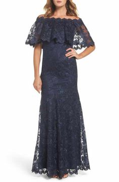 f37d5b60968e Marina Chiffon Capelet Sequin Lace Gown (Plus Size) | Stuff for Me ...