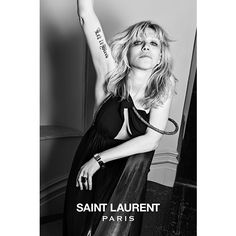 In a word, this was unexpected: Courtney Love is the new face of Saint Laurent Paris.