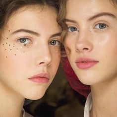 Artistic Makeup: Silver and Gold stars stickers eyes applique at Dior Couture #SS17 #PFW