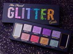 Too Faced Glitter Bomb Palette New Too Faced Glitter Bomb Palette! Too Faced Makeup Eyeshadow Makeup Geek, Love Makeup, Skin Makeup, Makeup Tips, Beauty Makeup, Drugstore Beauty, Makeup Eyeshadow, Makeup Ideas, Glitter Face
