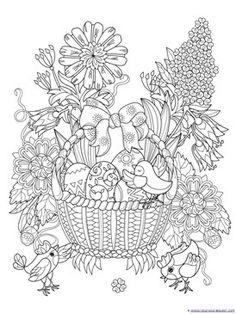 Coloriage Adulte Paques.173 Meilleures Images Du Tableau Coloriages Paques En 2019 Easter