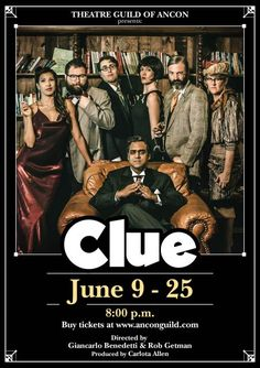 CLUE is coming to the Theatre Guild! An original stage adaptation of the cult movie classic written by Jonathan Lynn, directed by Giancarlo Benedetti & Rob Getman. Photo: elenathani.com --- #theatre #clue #cluedo #panama #eventospanama
