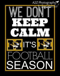 Mizzou Tigers --we don't keep calm it's football season