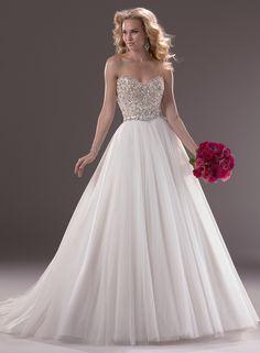 Beformal.com.au SUPPLIES Charming A-line Beading Sweetheart Tulle Wedding Dress Princess Wedding Dresses