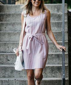Another great find on #zulily! Blush Tie-Waist Sleeveless Dress #zulilyfinds