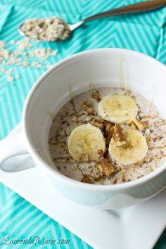 Honey Cinnamon Overnight Oats - Chia Seeds - Coconut milk - Easy - Quick - Healthy - Breakfast - LaurendaMarie.com