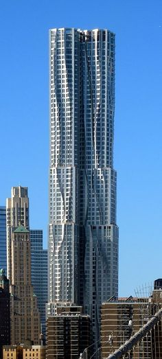 8 Spruce Street, originally known as Beekman Tower is a 76-story skyscraper designed by architect Frank Gehry in the New York City borough of Manhattan. It contains a public elementary school. The school covers 100,000 square feet of the first five floors of the building. Above that, the tower contains 898 residential rental units. The building also includes space for New York Downtown Hospital which will take up 25,000 square feet, and will have public parking below ground.