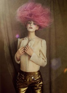 - The January 2009 issue of Numero Korea features a celebration of crazy and wild hair styles in the editorial, 'Puppet. High Fashion Photography, Photography Women, Fantasy Photography, Editorial Hair, Editorial Fashion, Creative Hairstyles, Cool Hairstyles, Dreads, Wild Hair