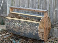 This is an Instructables.com tutorial showing how to actually make this compost drum. There's another Pin flying around on Pinterest that links uselessly to a 'green' website that tells you it's a good idea to be green but doesn't include jack about how to make this thing.