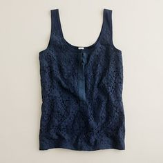 J. Crew tank. My two favorites: navy and lace!