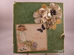 For the Floral challenge this week at http://www.sugarcreekhollow.blogspot.com/  a vintage/shabby chic challenge site.