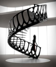 Vertabre Staircase influence was the spine of a whale by Andrew McConnell