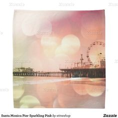 Santa Monica Pier Sparkling Pink Bandana #sold on #zazzle