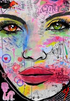 "Saatchi Online Artist Loui Jover; Drawing, ""always the optimist"" #art"
