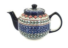 Polish Pottery Blue Horizon Teapot * Continue to the product at the image link.(This is an Amazon affiliate link and I receive a commission for the sales)