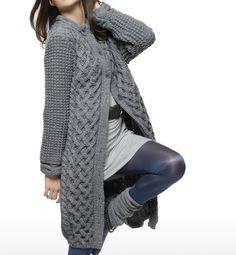 TRICO y CROCHET-madona-mía: Abrigo en tricot mujer- modelos