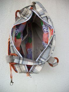 Bolsa Patchwork em linho de tapeçaria artsboomer.blogspot.com.br