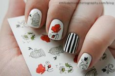 using rub on transfer paper, you can create any nail design! #thatsmyweekendsorted
