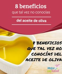 8 beneficios que tal vez no conocías del aceite de oliva  El aceite de oliva es uno de los alimentos más conocidos y utilizados de la gastronomía mundial. Su suave sabor y el hecho de ser considerado como el más saludable ha hecho que millones de personas lo prefieran.