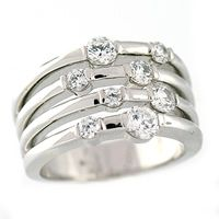 right hand ring for 8 diamonds
