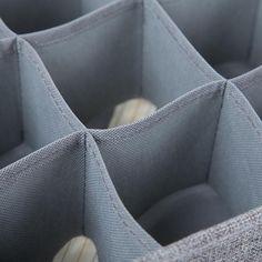 Foldable Socks Bras Underwear Organizer Box – HomeAlls Underwear Organization, Closet Organization, Linen Fabric, Cotton Linen, Organizer Box, Handkerchiefs, Towels, Scarves, Meet