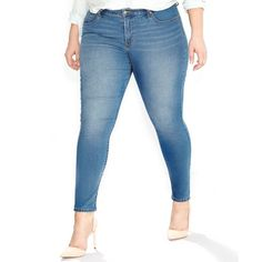 Levi's Plus Size 310 Shaping Jeggings Clear Sky Wash ($55) ❤ liked on Polyvore