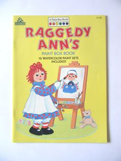 1988 Random House Raggedy Ann's Book Paint Box 16 Watercolor Paint Sets Include