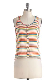 Rainbow Rows Top, #ModCloth