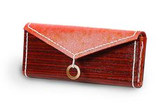 Wood and leather clutch handmade by rwoodb