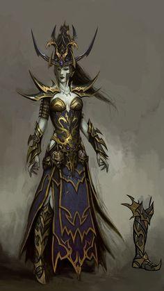 Elf female mage - Warhammer Online