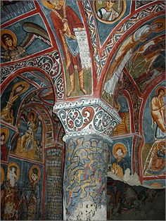 Chapel in the Goreme Open Air Museum.  Former monastic center at the time of the Three Gregories.