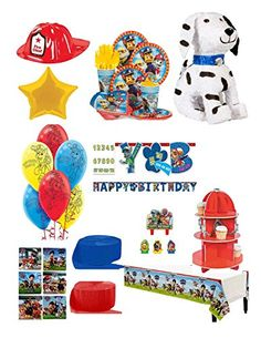 Paw Patrol Birthday Party Supply Pack Ultimate Set For 8 Guests Includes Pinata,Favors, Balloons,…