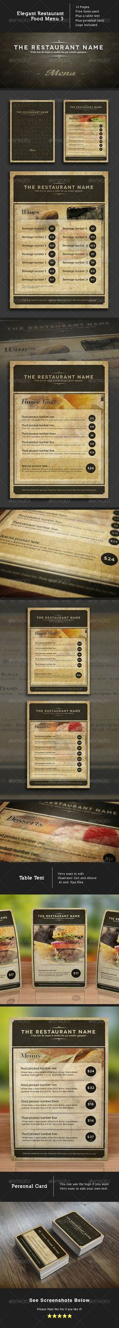 Elegant Food Menu 3 - Food Menus Print Templates Download here : http://graphicriver.net/item/elegant-food-menu-3/5282249?s_rank=1320&ref=Al-fatih