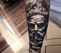 Zues tattoo by Ben Thomas