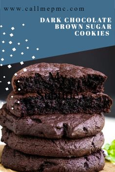 Just Desserts, Delicious Desserts, Yummy Food, Baking Recipes, Cookie Recipes, Dessert Recipes, Brown Sugar Cookies, Easy Chocolate Cookies, Chocolate Sugar Cookie Recipe